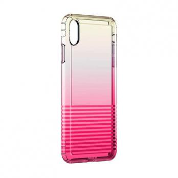 Чехол Baseus Colorful Airbag Protection Case iPhone X/Xs Розовый