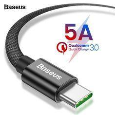 Кабель Baseus Speed Type-C QC Cable для HUAWEI Type-C (5V/5A Max) 1М