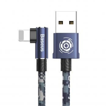 Кабель Baseus Camouflage Mobile Game Cable USB For iP 2.4A 1m Blue