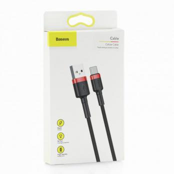Кабель Baseus cafule Cable USB For Type-C Red/Black 3A 1m
