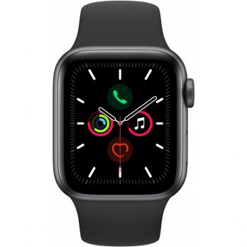 Часы Apple Watch Series 5 GPS + Cellular 44mm Stainless Steel Case with Sport Band Space Black