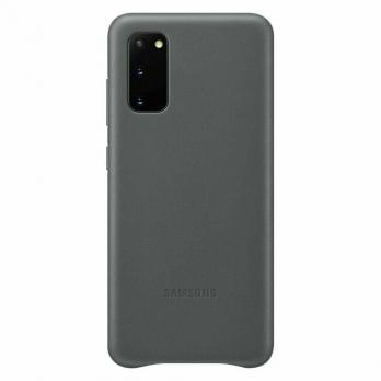 Чехол Samsung S20+ LEATHER COVER Original,Gray