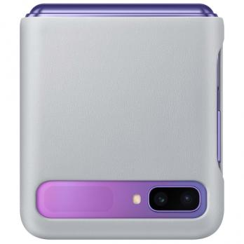 Чехол Samsung Z Flip LEATHER COVER Original, Gray