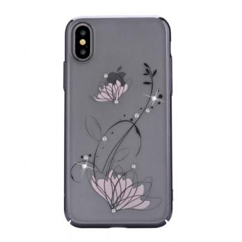 Накладка Devia Crystal lotus  для Iphone X/XS,Black