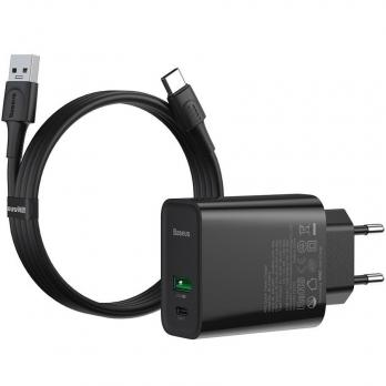 Сетевое зарядное Baseus Speed PPS Quick Charger 30W VOOC Edition( TZCCFS-H01),Black
