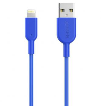 Кабель Anker Powerline II USB - Lightning 0,9 м (A8432H31) Blue