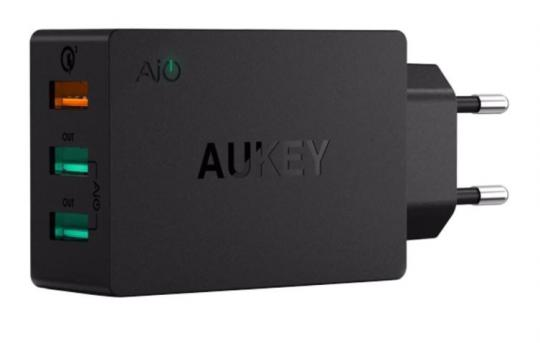 СЗУ AUKEY 3-Port Wall Charger 5v4.8A PA-T14 Black