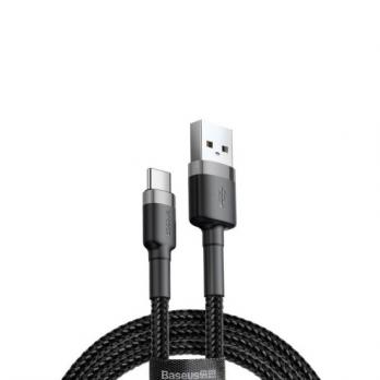 Кабель Baseus cafule Cable USB For Type-C Grey/Black 3A 1m